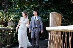 wedding couple strolling