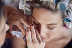 The brides eyelashes