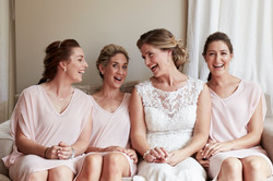 candid wedding moment with bride