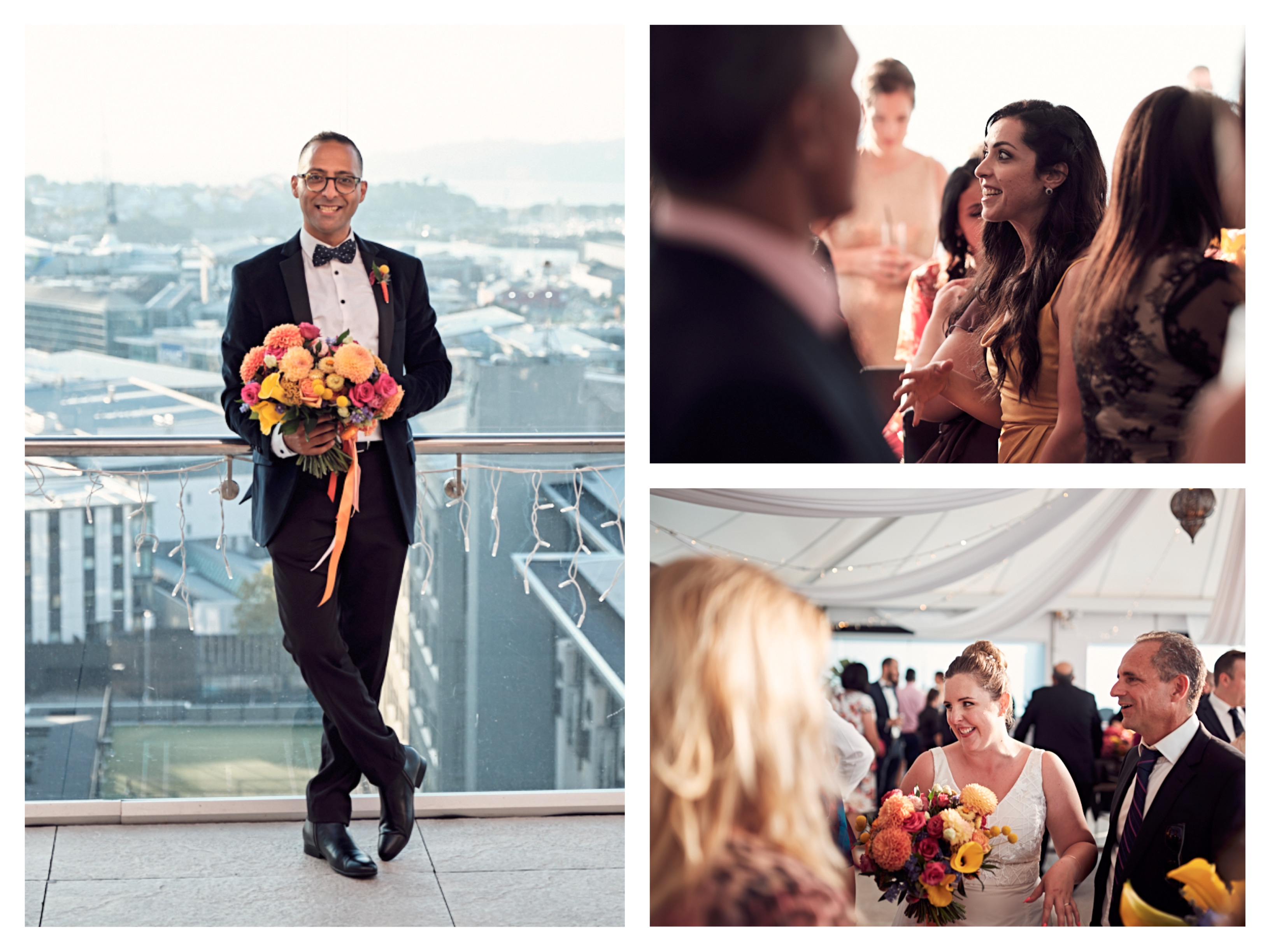 Rydges Rooftop wedding NZ