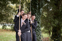 The boys on a swing