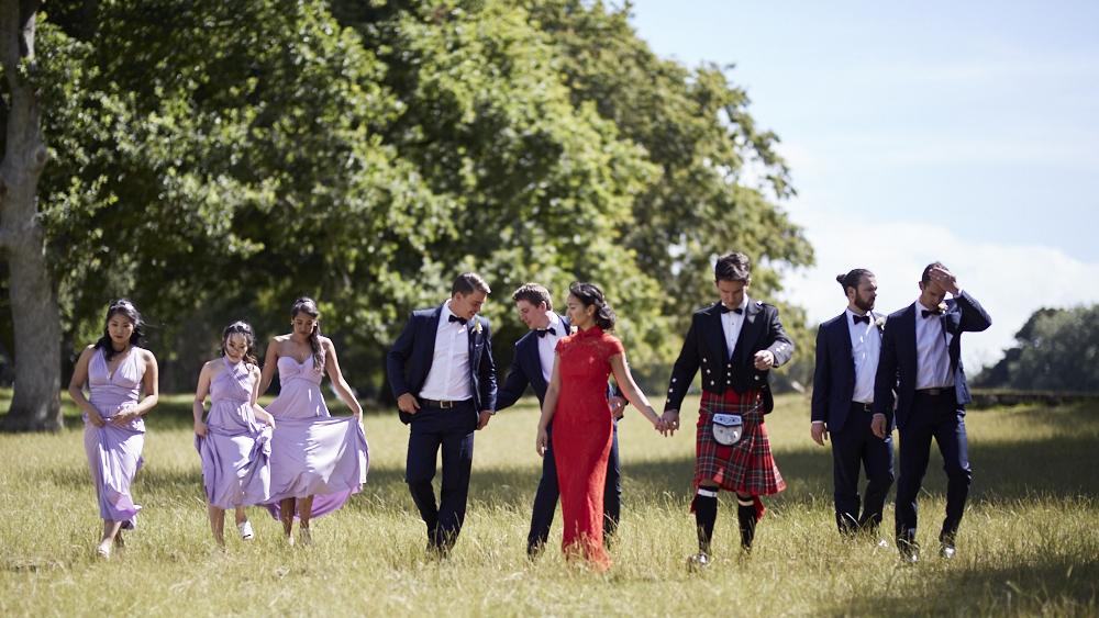 wedding photos in park
