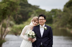 bride with groom