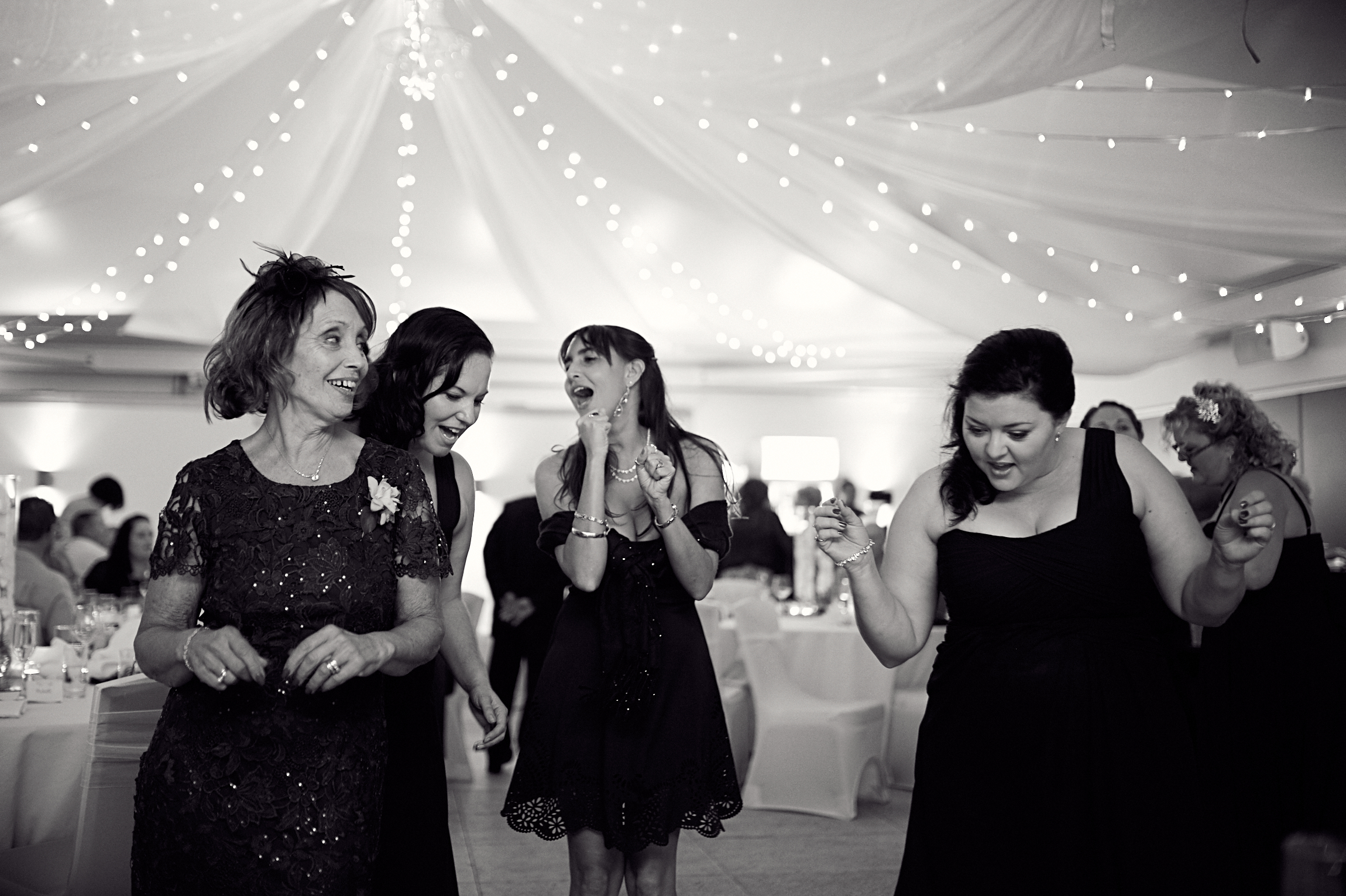 on the dance floor