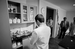 groom giving thanks