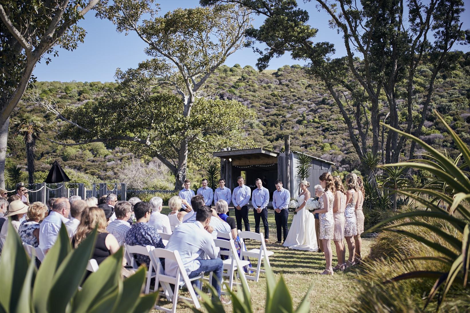 Waiheke wedding outdoors