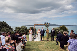 Great backdrop for wedding