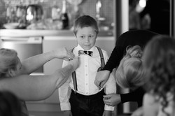 child getting ready