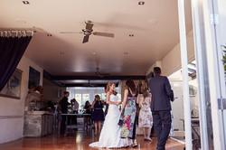 bride at venue