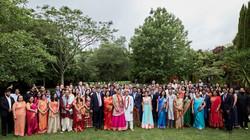 big wedding group shot