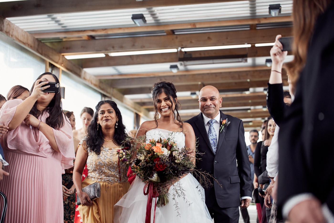 Bride sees her groom