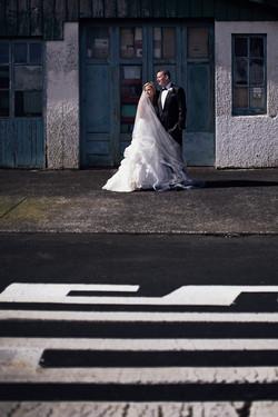 creative wedding shot