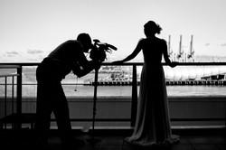 bride wedding silhouette