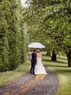 rainy Auckland wedding photography