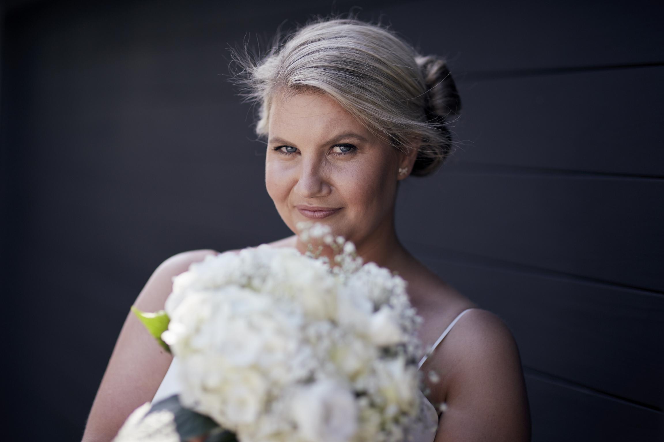 lovely bride posing