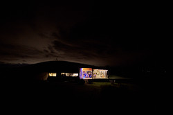 The venue at night