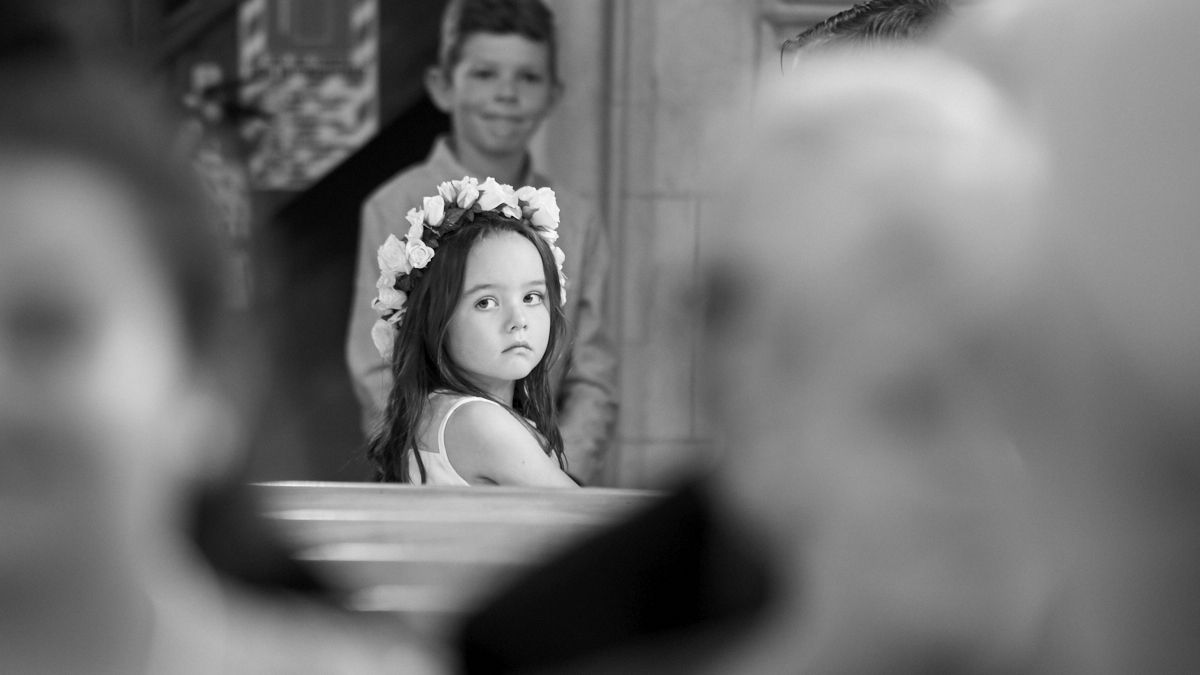 girl at wedding