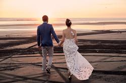 Sunset photography at wedding