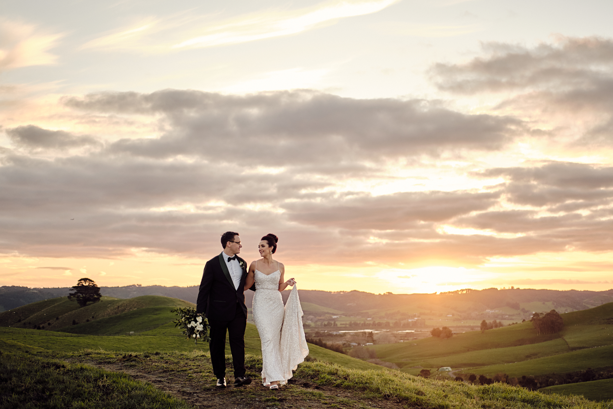 Sunset at wedding venue