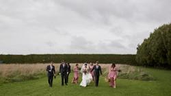Bridal party at Markovina wedding