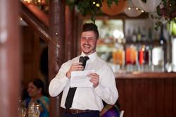 man gives speech