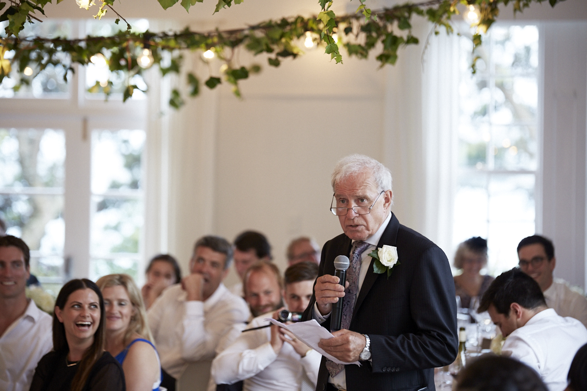 man giving wedding speech