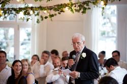 man giving wedding speech