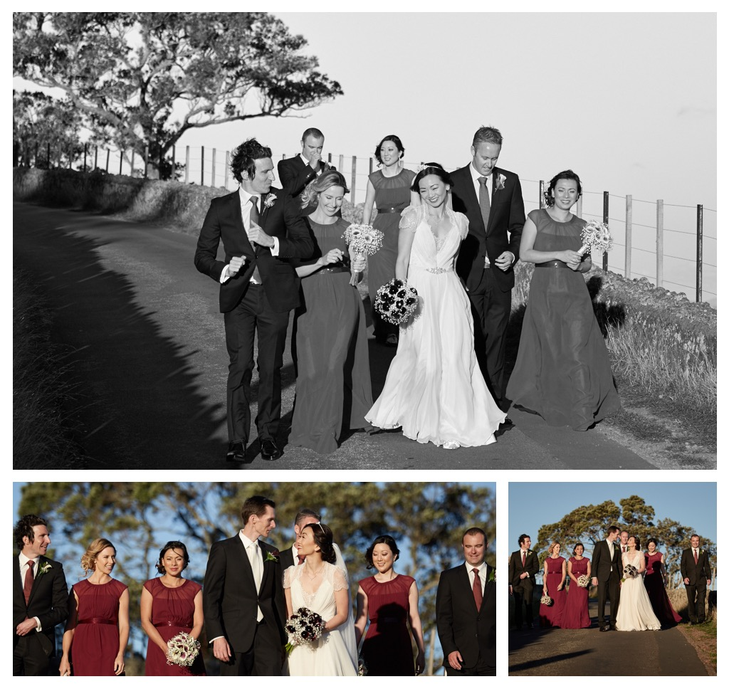 wedding montage of bridal party