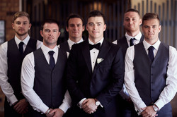 The lads posing