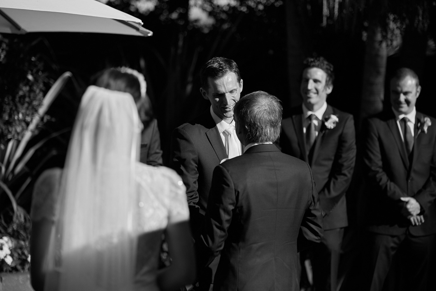 Groom thanks bride's father
