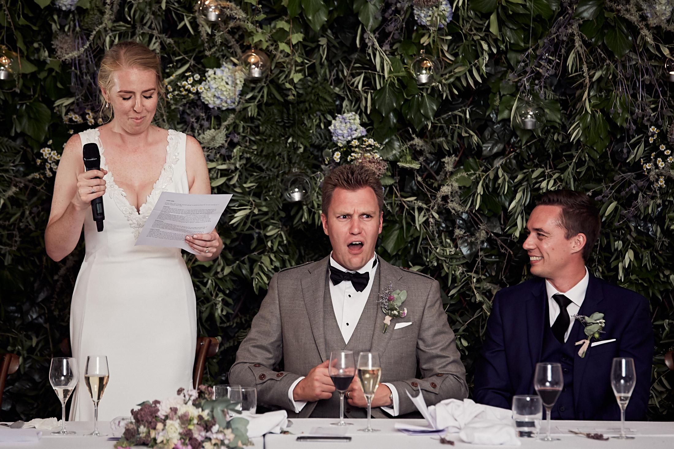 Classic wedding moment