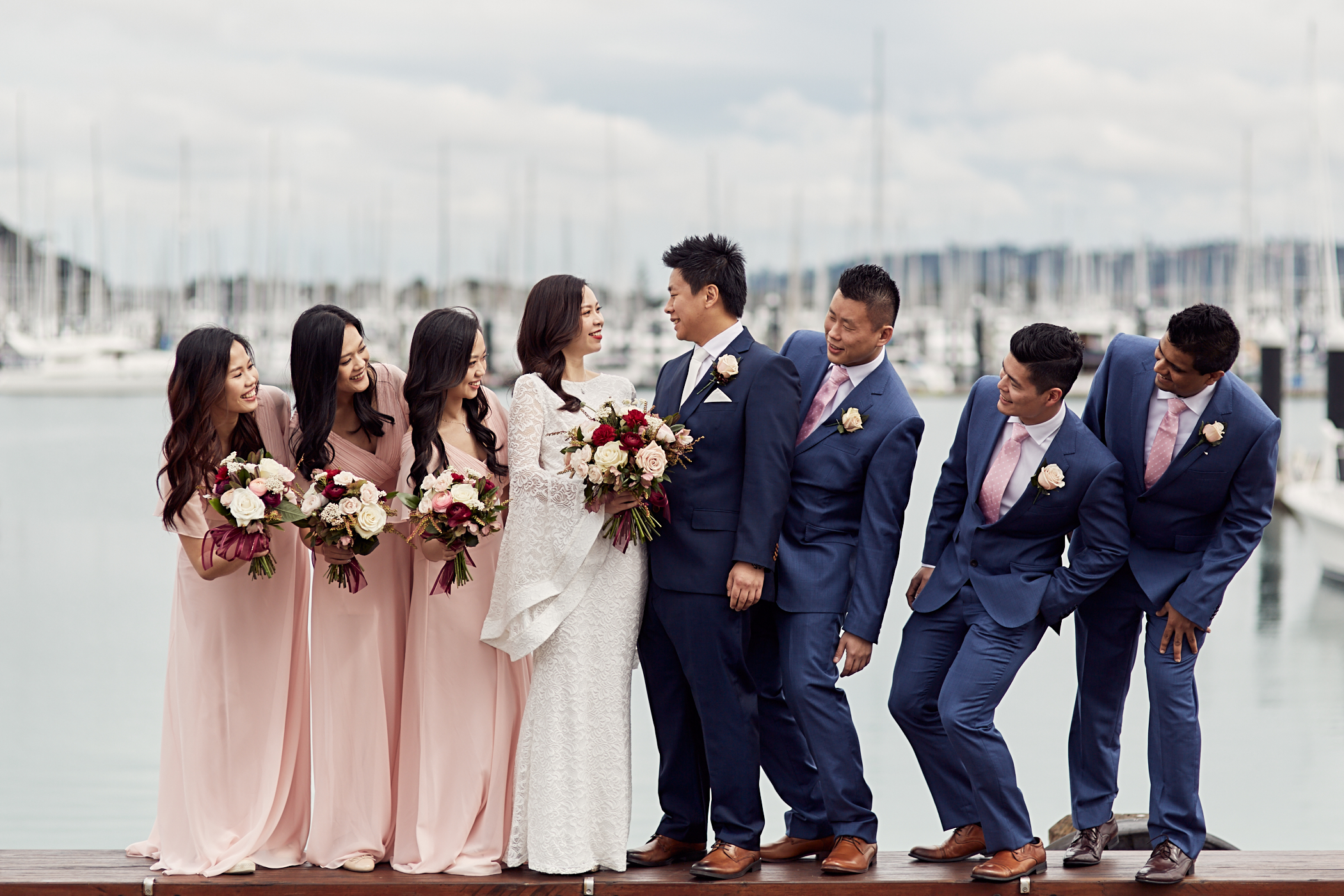 Bridal party at wharf