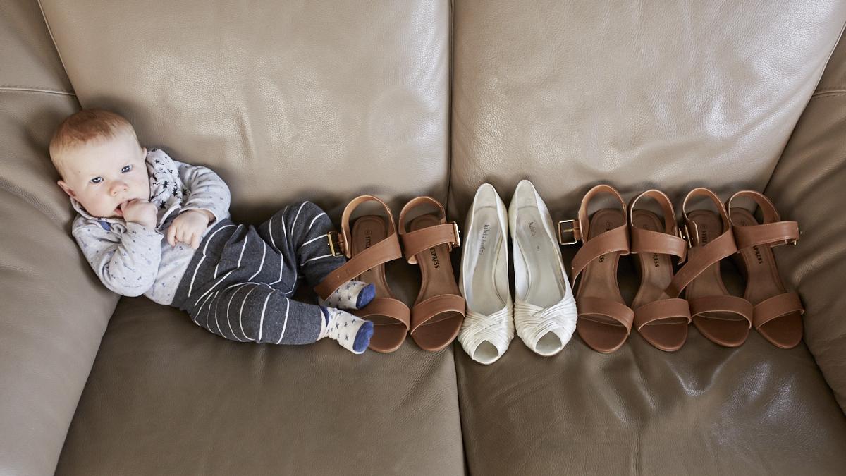 creative wedding shoe shot