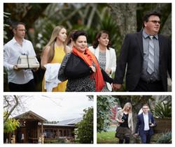 guests arriving at Markovina wedding