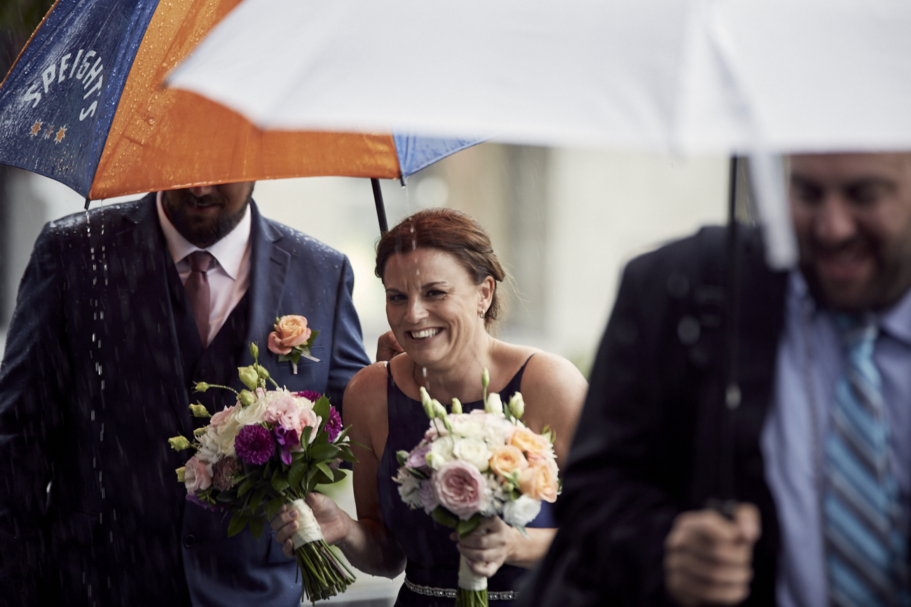 wet bridesmaid