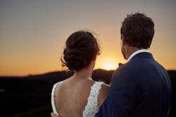 Wedding sunset photo
