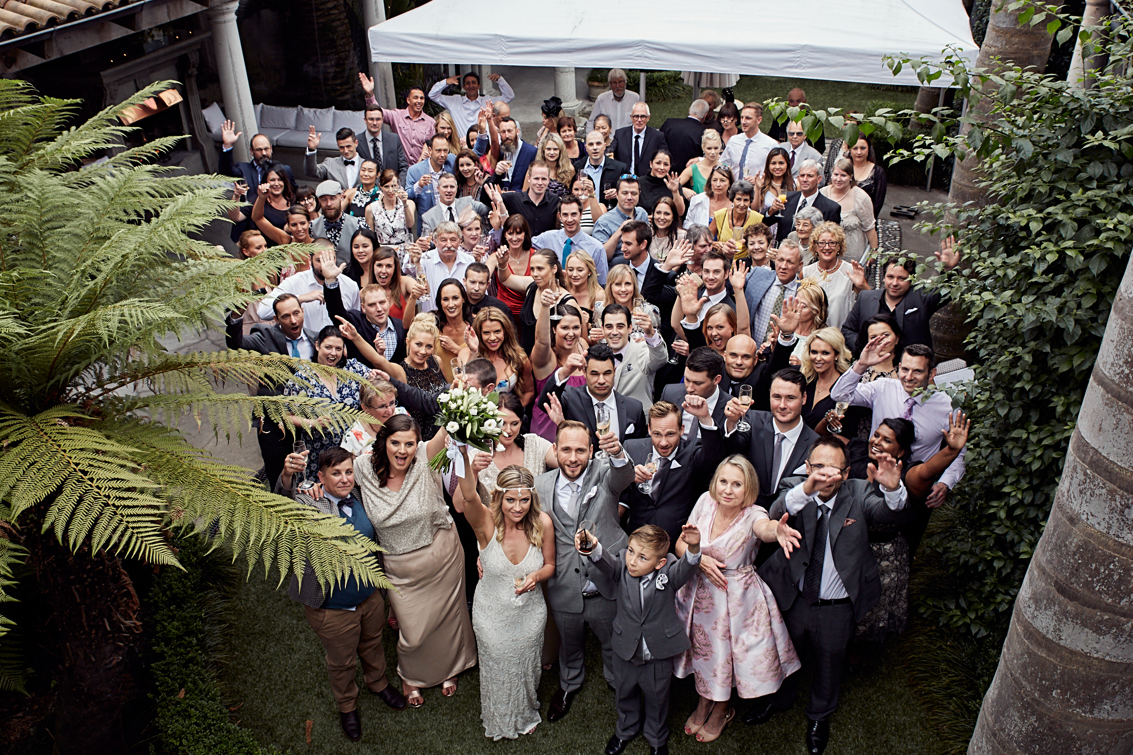 Big wedding group shot