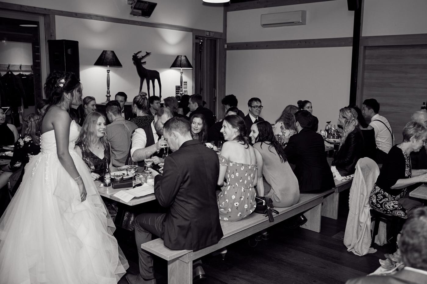 Guests at wedding venue