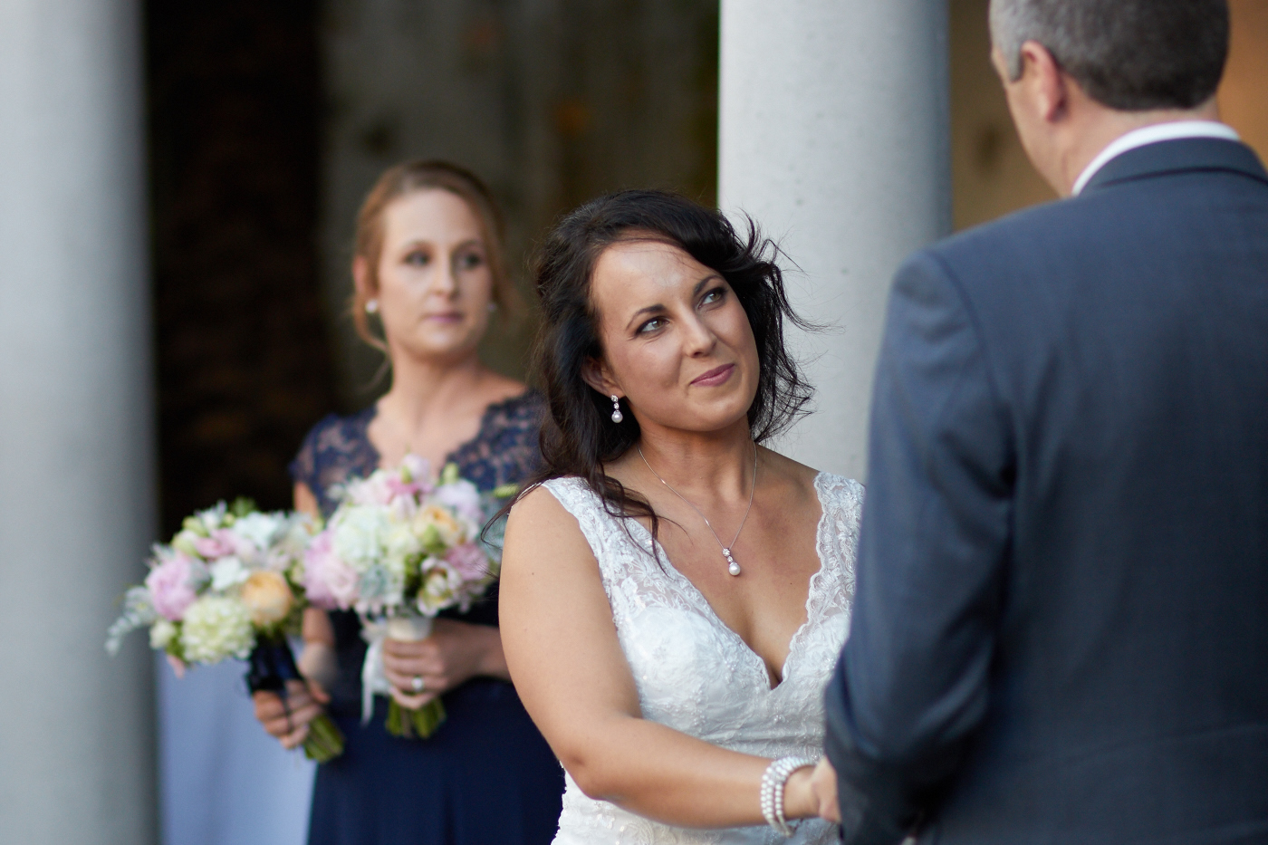 bride gives that loving look