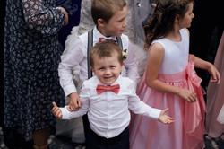 cute kid at wedding