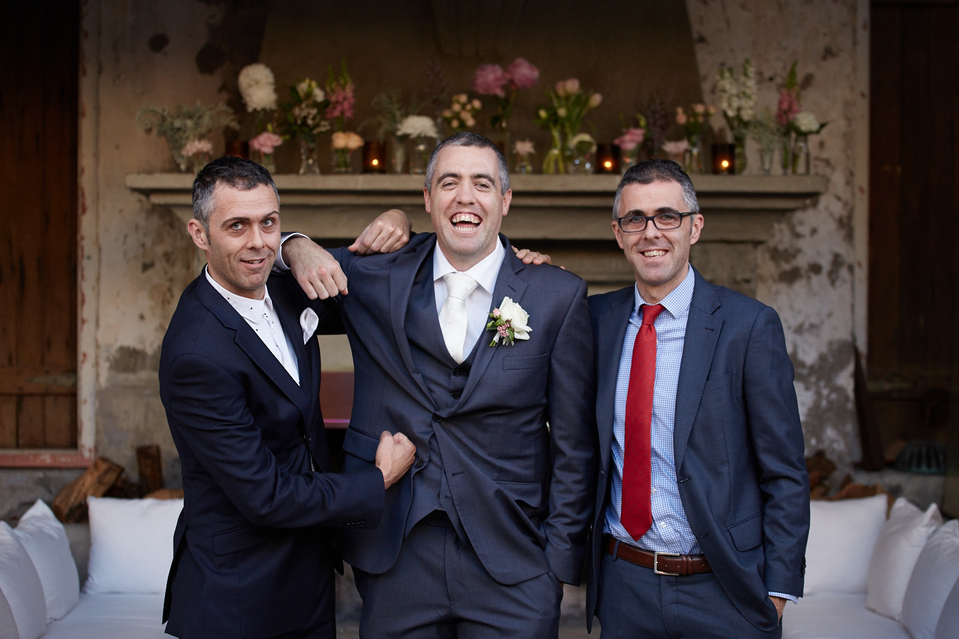 The groom with his brothers
