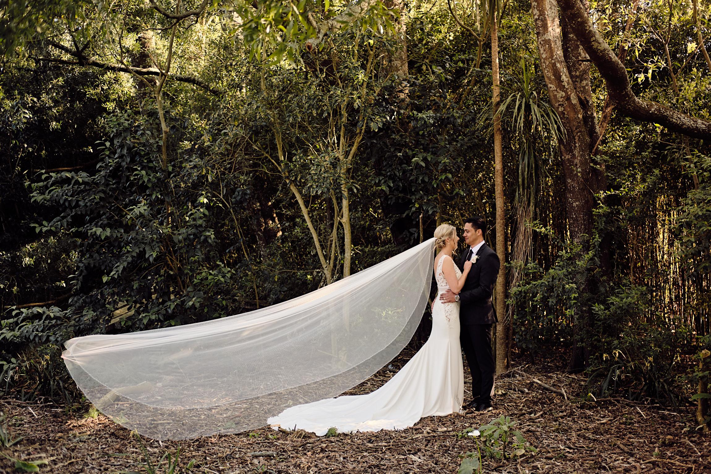 Wedding pose at Markovina Estate