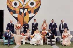 Urban wedding setting