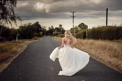 Country road wedding image