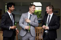 Wedding candid moments with groom