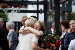 Bride gets hug