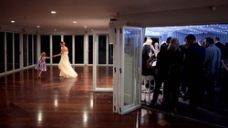 Bride having a quick dance