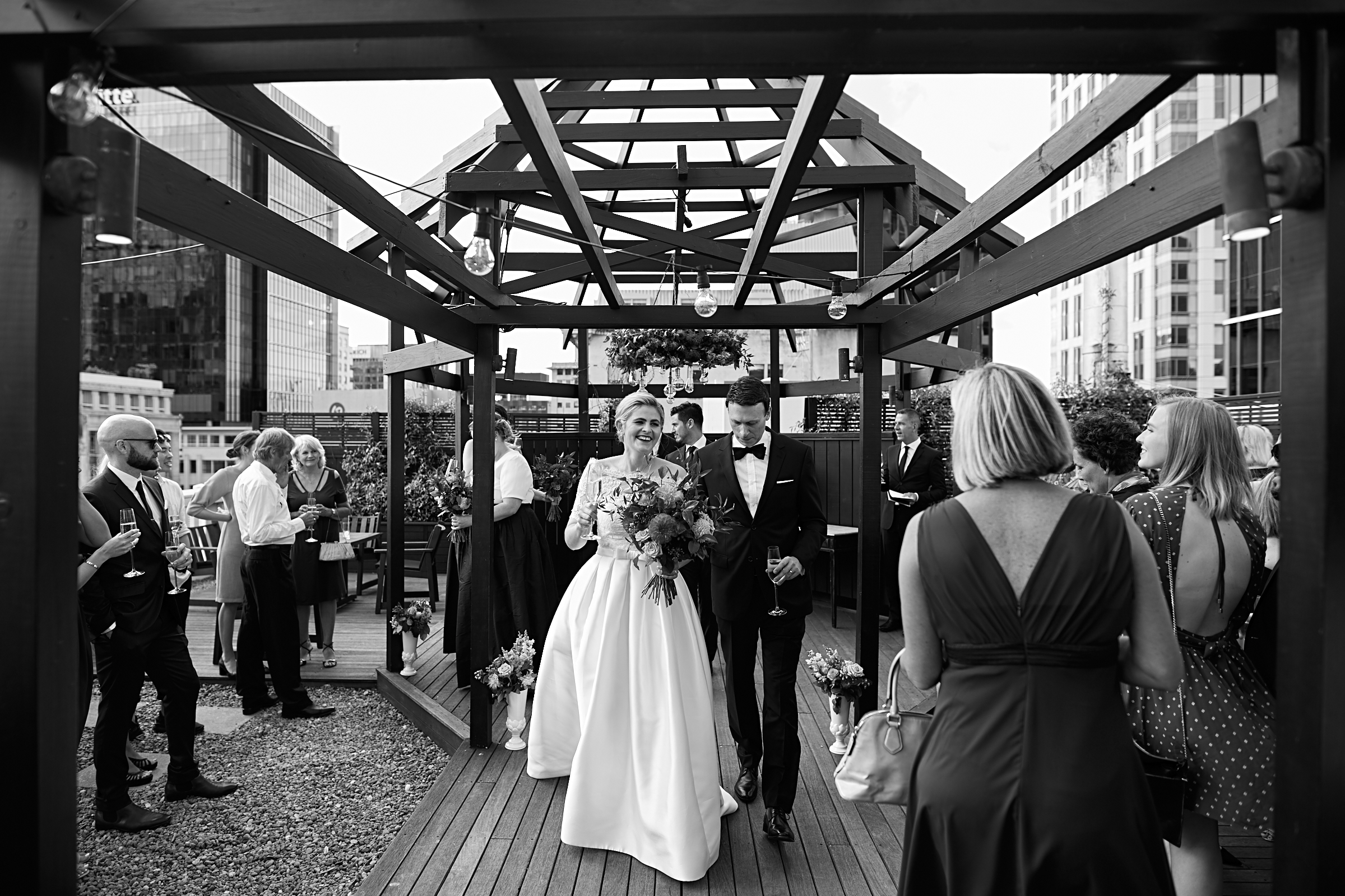 Auckland rooftop wedding
