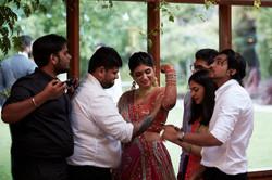bride flexes arm