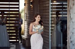 bridesmaid walking in
